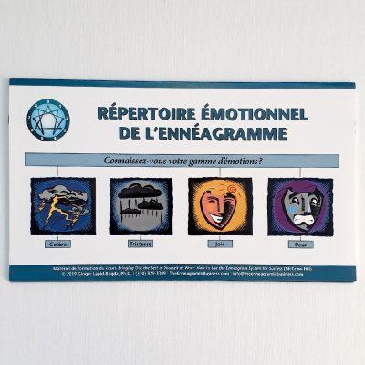 Outil Répertoire des émotions Ennéagramme